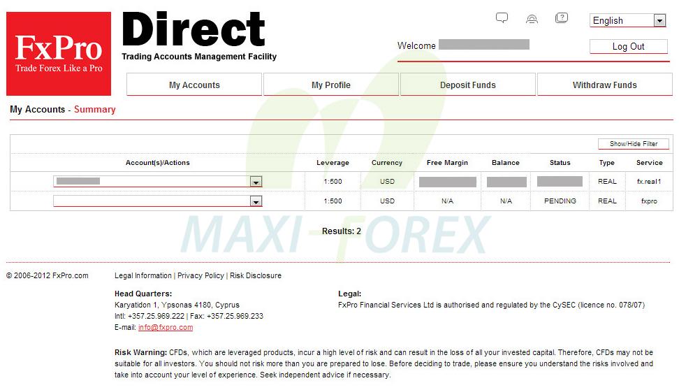 Hướng dẫn Mở tài khoản-Nạp tiền-Rút tiền với sàn FxPro.com : FOREX – GOLD Trading | Kênh thông ...