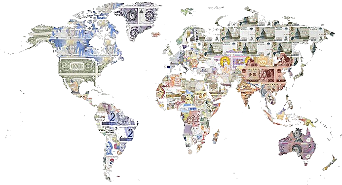 the-currencies-on-world-map