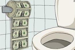Biếm họa về tình trạng lạm phát tại Mỹ.