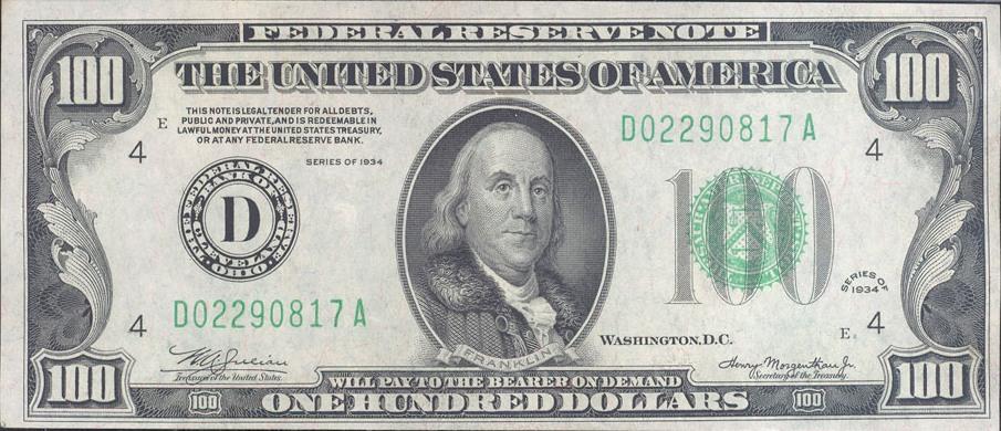 Đồng 100 USD cũ